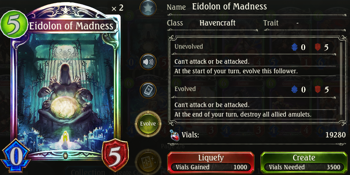 Shadowverse: Card Analysis - Eidolon of Madness