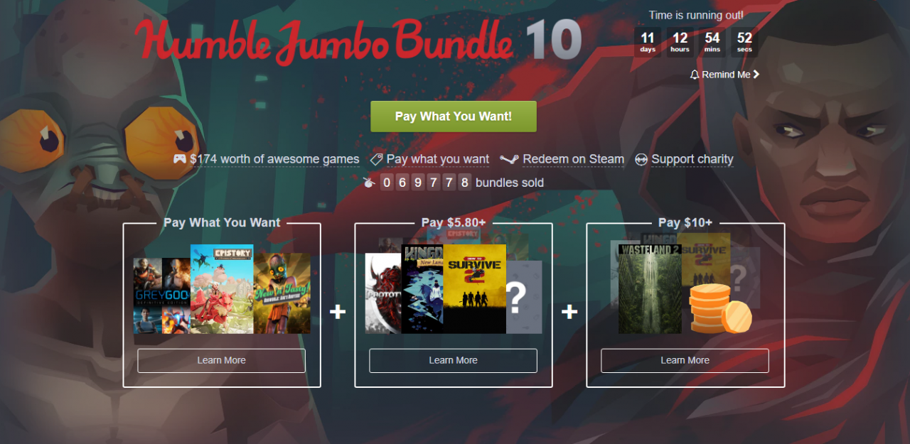Humble Jumbo Bundle 10: Amazing Games at Unbelievably Cheap Prices