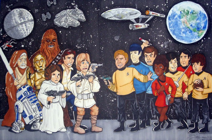 Star Trek or Star Wars: Don't Mix Them Up