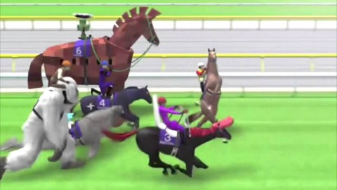 Funny Japanese Horse Racing Game with Bizarre Characters