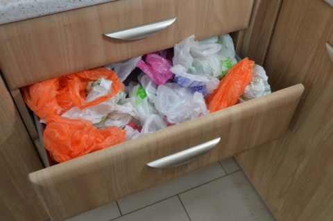 Organize Messy Plastic Bags With This Quick Folding Method