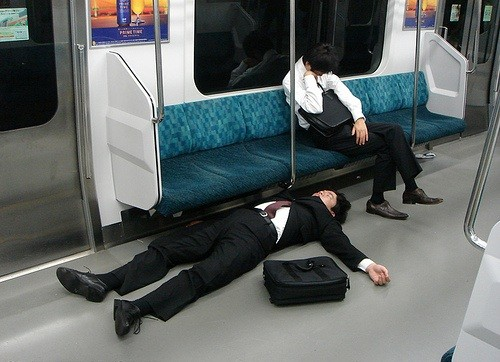 Tired Of Falling (Literally) Asleep On A Train? This Might Be The Best Invention Yet