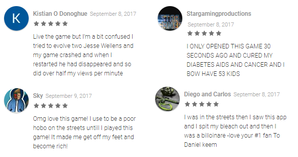 Funny Reviews Found in the Playstore